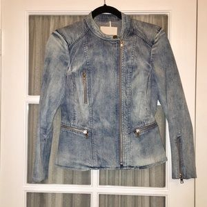 Rebecca Taylor Jackets & Coats - Rebecca Taylor – Denim Peplum Jacket WASHED IND